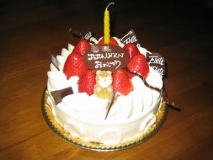 初めての誕生日ケーキ